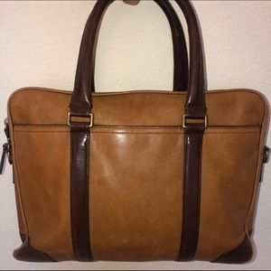 Coach Vintage 2-Tone Leather Briefcase Laptop Bag